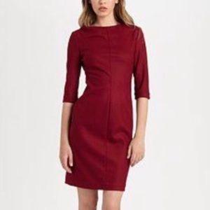 Diane Von Furstenberg Cranberry Wool Thandi Dress